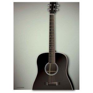 Image of   VISSEVASSE - Guitaren plakat - 30x40 cm