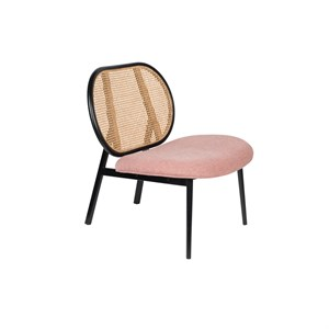 Image of   Zuiver - Lounge Chair Spike - Natur/pink