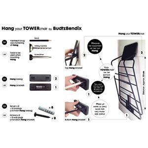 Image of   BudtzBendix hang/beslag i grå til TowerChair
