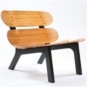 Image of   I'M Board - Stol - bambus (med sorte ben) - uden hynde