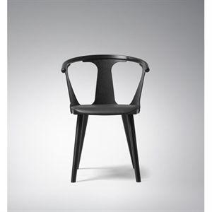 andtradition - In Between stol - sortbejdset ask m. sort læder