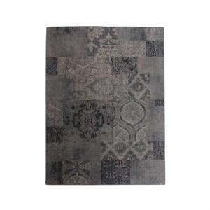 Image of   Muubs - Bæredygtigt Tæppe, Hudson - Sort/Grå mønstret