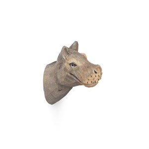 Image of   Ferm Living - Animal Hand-carved Hook - Hippo