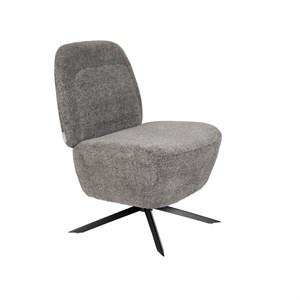 Image of   Zuiver - Lounge Chair Dusk - Lysgrå