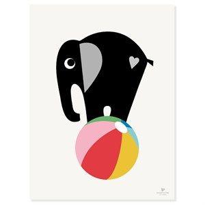 Image of   KAI Copenhagen - Plakat med elefant - 30x40 cm.