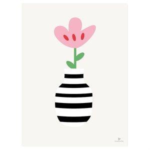 Image of   KAI Copenhagen - Plakat med blomst - 30x40 cm.
