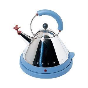 Image of   Alessi elektrisk kedel i blank poleret stål - blå