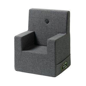 Image of   By KlipKlap børnestol - KK Kids chair XL - Blå/grå med grå knap