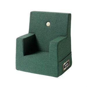 Image of   By KlipKlap børnestol - KK Kids chair - Dyb grøn med lysegrøn knap