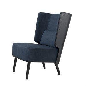 By KlipKlap - KK Lounge Chair - Sort eg/ dark blue