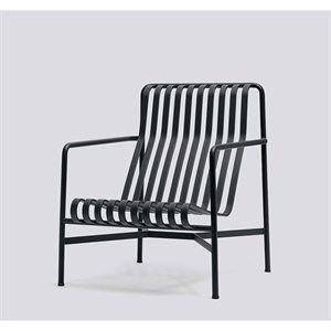 HAY havemøbel - Palissade loungestol, høj i anthracite