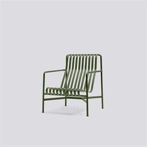 HAY havemøbel - Palissade loungestol, høj i olive