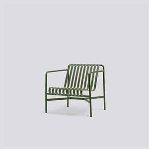 Image of   HAY havemøbel - Palissade loungestol, lav i olive
