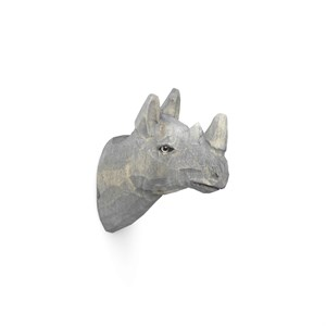 Image of   Ferm Living - Animal Hand-carved Hook - Rhino