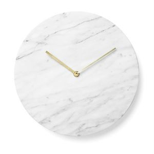 Image of   Menu - Marble Wall Clock - white
