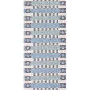 Horredsmattan tæppe - Märta i blå/grøn 50x70