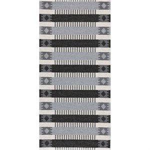Horredsmattan tæppe - Märta i grå/sort 70x50