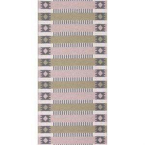 Horredsmattan tæppe - Märta i pink/olive 70x50