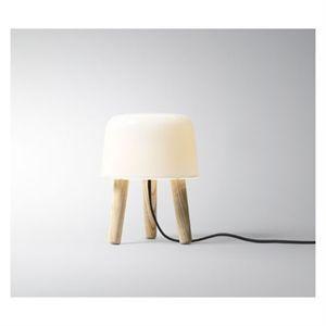 &tradition - Milk Bordlampe - sort stofledning