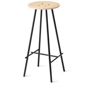 Image of   8000c barstol - NamNam Bar stol H: 45 cm i sæbehandlet eg