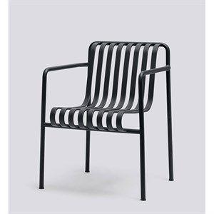 Image of   HAY havemøbel - Palissade spisebordsstol i anthracite - dining arm chair