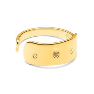 Image of   Louise Kragh - Fingerring - Raw Diamond - guld