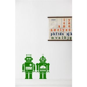 Wall sticker - Robot green