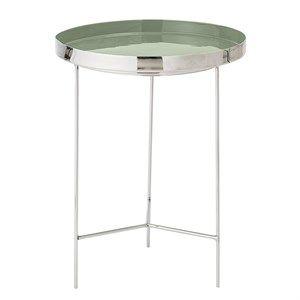Image of   Bloomingville - Bakke bord - grøn/sølv - 40x50 cm - Aluminium