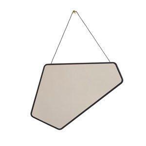 Image of   Design By Us - Ego spejl med sortbejdset egetræs ramme - lille