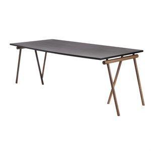 Applicata bord - Stick bord - Røget eg/sort linoleum