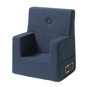 Image of   Børnestol fra by KlipKlap - Mørkeblå med sort knap