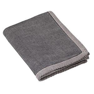 "Image of   Muuto - ""Ripple Throw"" Plaid - Bluish Black / sort"