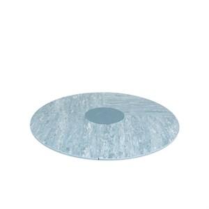 Image of   bObles - Rundt tumlegulv - Lys blå marmor