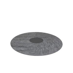 Image of   bObles - Rundt tumlegulv - Mørk grå marmor
