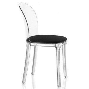 Image of   Magis - Vanity chair med pude i sort læder