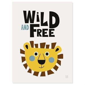 Image of   KAI Copenhagen - Plakat - Wild and free - 30x40 cm.